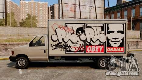 Nuevo graffiti para corcel para GTA 4 Vista posterior izquierda