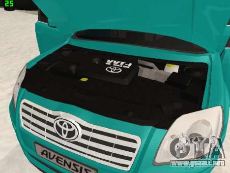Toyota Avensis 2.0 16v VVT-i D4 Executive para GTA San Andreas vista hacia atrás