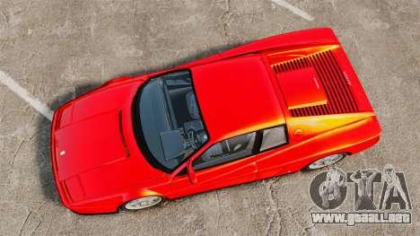 Ferrari Testarossa 1986 para GTA 4 visión correcta