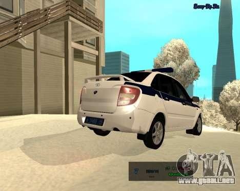 Lada Granta 2190 policía v 2.0 para GTA San Andreas vista hacia atrás