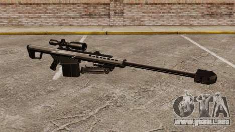El francotirador Barrett M82 rifle v1 para GTA 4