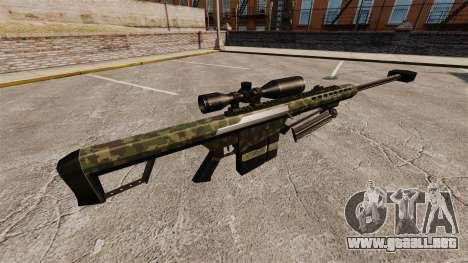 El v7 de rifle de francotirador Barrett M82 para GTA 4 segundos de pantalla