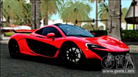 McLaren P1 2014 para GTA San Andreas vista hacia atrás