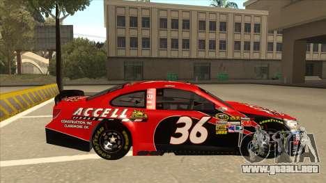 Chevrolet SS NASCAR No. 36 Accell para GTA San Andreas vista posterior izquierda