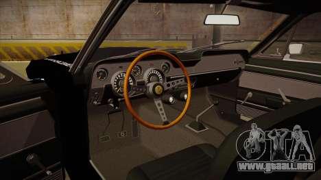 Shelby Mustang GT500 Eleanor Police para visión interna GTA San Andreas