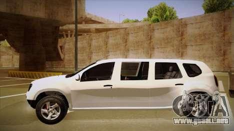 Dacia Duster Limuzina para GTA San Andreas vista posterior izquierda