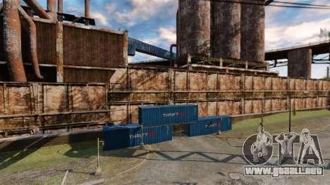 Una base defensiva para GTA 4 adelante de pantalla