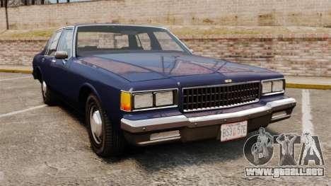 Chevrolet Caprice 1986 para GTA 4