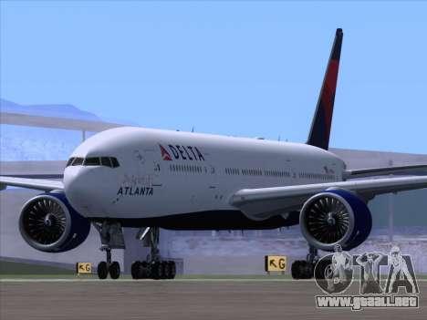 Boeing 777-200ER Delta Air Lines para la visión correcta GTA San Andreas