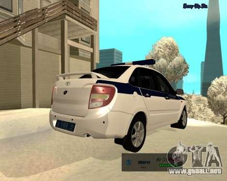 Lada Granta 2190 policía v 2.0 para la visión correcta GTA San Andreas