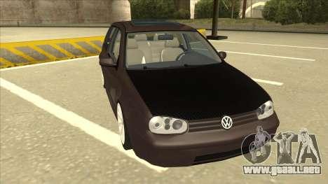 VW Golf 4 Tuned para GTA San Andreas left