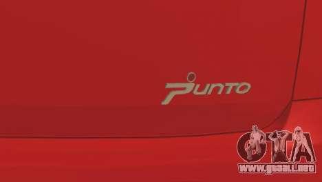 Fiat Grande Punto para vista lateral GTA San Andreas
