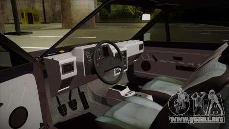 Volkswagen Gol para GTA San Andreas vista hacia atrás