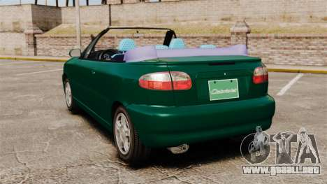 Daewoo Lanos 1997 Cabriolet Concept v2 para GTA 4 Vista posterior izquierda
