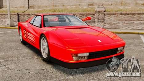 Ferrari Testarossa 1986 para GTA 4