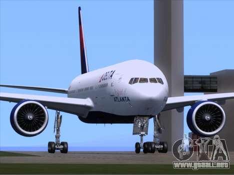 Boeing 777-200ER Delta Air Lines para GTA San Andreas vista posterior izquierda