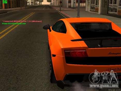 Lamborghini Gallardo LP560-4 SL UGR Altecho para la visión correcta GTA San Andreas
