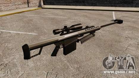 El francotirador Barrett M82 rifle v1 para GTA 4 segundos de pantalla