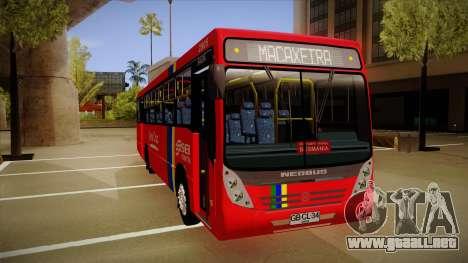 Neobus Mega MB OF 1722 M para GTA San Andreas left