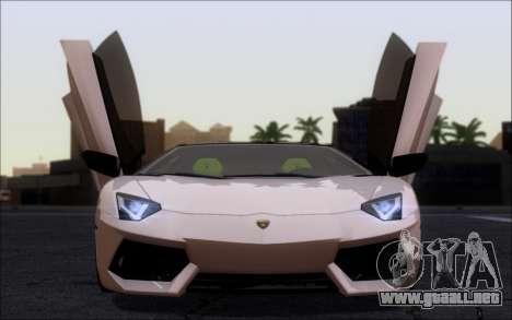Lamborghini Aventador LP760-2 EU Plate para GTA San Andreas vista posterior izquierda