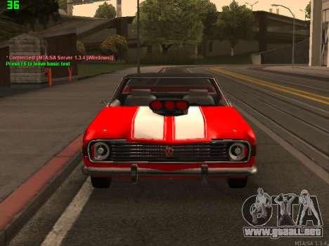 GAS El Camino SS para GTA San Andreas vista hacia atrás