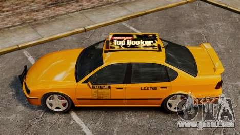 Taxi2 con nuevos discos para GTA 4 Vista posterior izquierda