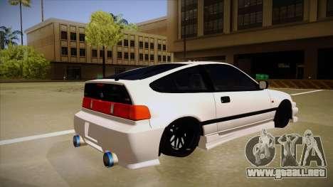 Honda CRX JDM Style para la visión correcta GTA San Andreas