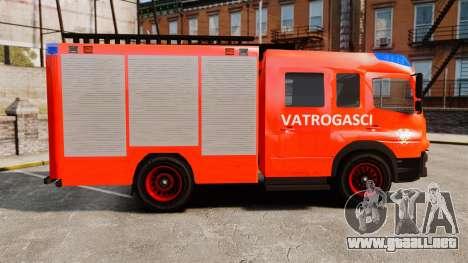 Mercedes-Benz Atego Koprivnica Fire Dept. [ELS] para GTA 4 left
