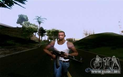 AK-47 para GTA San Andreas octavo de pantalla