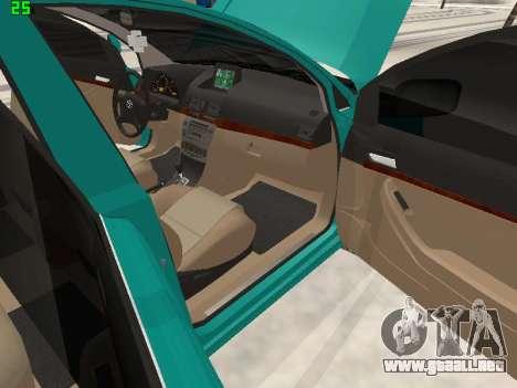 Toyota Avensis 2.0 16v VVT-i D4 Executive para vista lateral GTA San Andreas