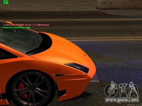 Lamborghini Gallardo LP560-4 SL UGR Altecho para visión interna GTA San Andreas