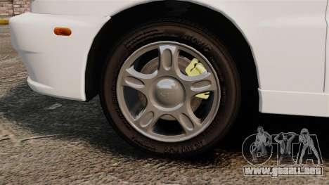 Daewoo Lanos 1997 Cabriolet Concept para GTA 4 vista hacia atrás