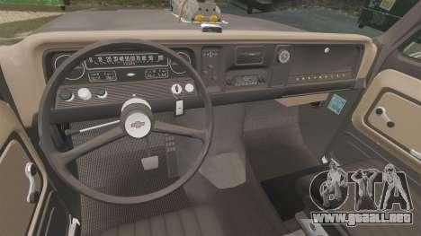 Chevrolet C-10 Stepside v3 para GTA 4 vista lateral