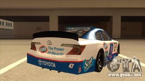 Toyota Camry NASCAR No. 47 Clorox para la visión correcta GTA San Andreas
