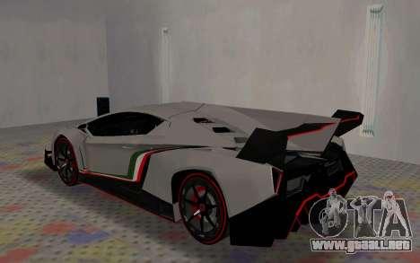 Lamborghini Veneno Advance Edition para la visión correcta GTA San Andreas