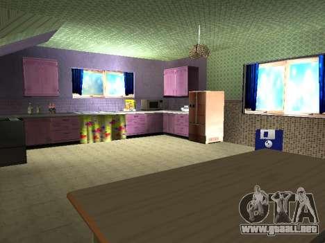 Nuevo edificio de 2 pisos interior CJ para GTA San Andreas octavo de pantalla