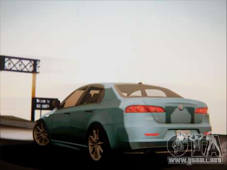 Alfa Romeo 159 Sedan para vista lateral GTA San Andreas