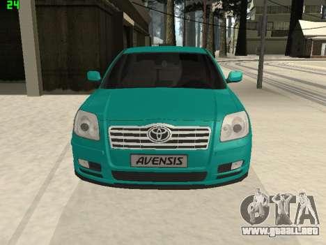 Toyota Avensis 2.0 16v VVT-i D4 Executive para la visión correcta GTA San Andreas