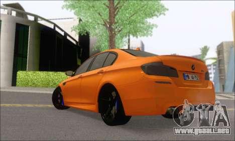 BMW M5 Vossen para GTA San Andreas vista posterior izquierda