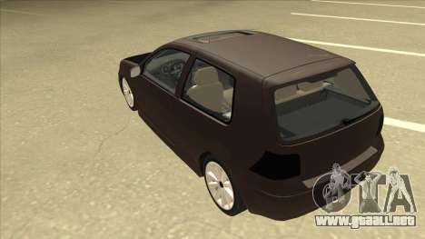 VW Golf 4 Tuned para GTA San Andreas vista hacia atrás