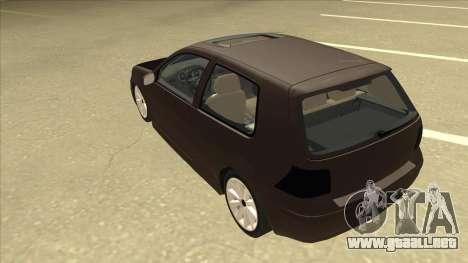 VW Golf 4 Tuned para GTA San Andreas vista hacia atrás