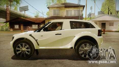 Bowler EXR S 2012 HQLM para GTA San Andreas left