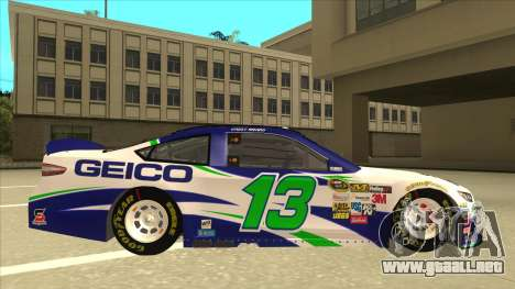 Ford Fusion NASCAR No. 13 GEICO para GTA San Andreas vista posterior izquierda