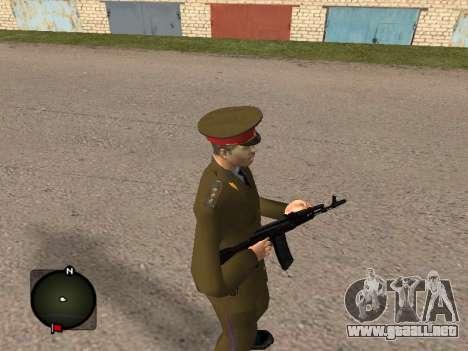 Comandante General del ejército ruso para GTA San Andreas segunda pantalla
