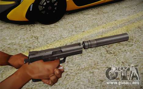 USP45 con silenciador para GTA San Andreas segunda pantalla