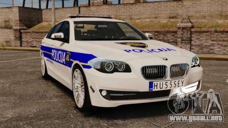 BMW M5 Croatian Police [ELS] para GTA 4