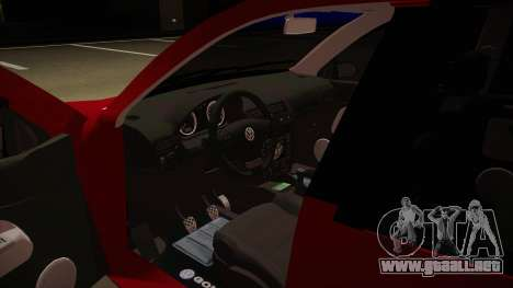 VW Golf GTI 2008 para visión interna GTA San Andreas