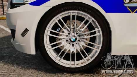 BMW M5 Croatian Police [ELS] para GTA 4 vista hacia atrás