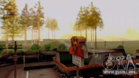 Caligraphic ENB v1.0 para GTA San Andreas quinta pantalla