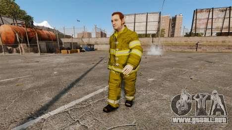 Amarillos uniformes para bomberos para GTA 4